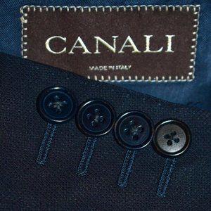 44L Canali Dark Navy Hopsak Like Dual Vent blazer